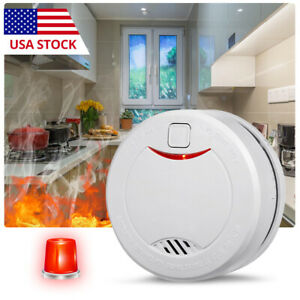 Smoke Detector Fire Alarm Photoelectric Sensor With 10 Year Battery
