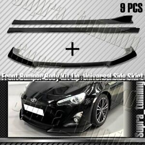 For 13 16 Scion Fr S Toyota 86 Front Bumper Lip Side Skirt Rocker Splitter Lip