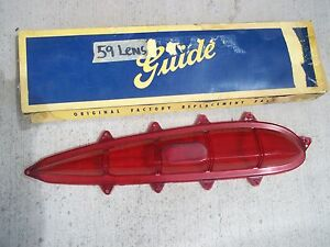 1959 Chevrolet Impala Nos Tail Light Lense Made By Guide Right Side