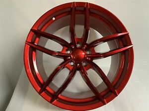Four 19 Staggered Candy Red V Style Rims Wheels Fits Altima Maxima Se Sl 5x114