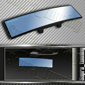 Broadway 240mm Wide Convex Interior Clip On Rear View Blue Tint Mirror Universal
