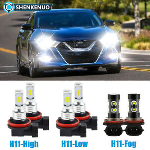 For Nissan Maxima 2016 2017 2018 6pc 6000k Led Headlight Fog Light Bulbs Kit