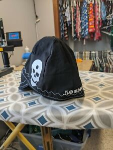 Wendys Welding Hat Made With White Skull Application New