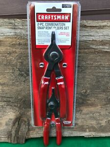 Craftsman 2 pc Combination Snap Ring Pliers Set 37907 New