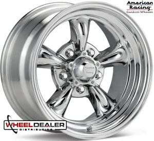 15x6 15x7 American Racing Polished Wheels Rims Ford Mustang 1965 1966 1967 1968