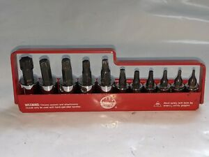 Mac Tools 11pc Torx Socket Set W metal Tray St11t