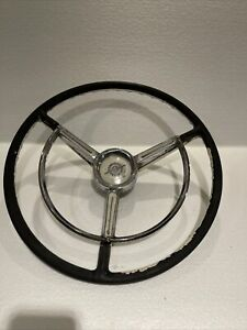 1957 1958 1959 Ford F100 Steering Wheel Power Steering Horn Ring Button