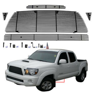 Fit 2005 2010 Toyota Tacoma Grill Trd Black Main Upper Grille Combo Insert