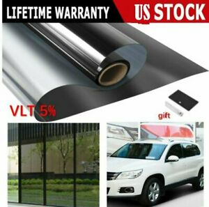 Uncut Window Tint Roll 5 Vlt 20 In 10ft Feet Home Commercial Office Auto Film