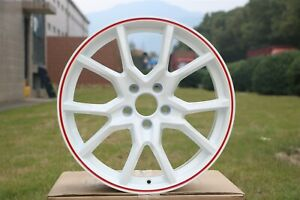 18 Fk8 Type R Style Gloss White Red Lip Wheels Rims For Honda Accord Civic