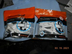 Gallagher Electric Fence Locking 1 1 2 Poly Tape Insulator Livestock New 20