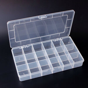 Jewelry Electronic Component Screw Small Container Pp Storage Plastic Box 2pcs