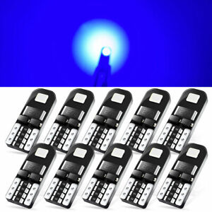 10x T10 194 168 W5w Led For Interior Map Dome License Plate Light Bulbs Blue Kit