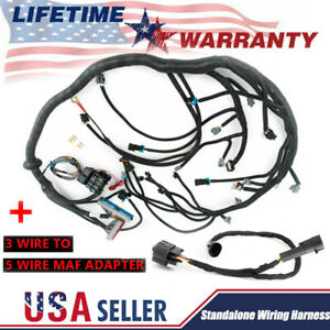 Ls1 97 06 Standalone Wiring Harness Dbc T56 Non electric 3wire To 5wire Adapter