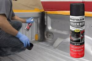 Black Automotive Truck Bed Liner Coating Spray Paint Trailer Floor Protector New