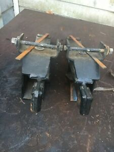 Fisher Minute Mount Plow Push Plates Gm Nice Shape Kit 7168 With Hardware
