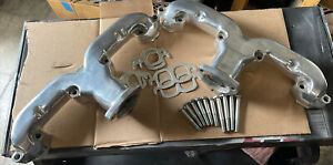 Ceramic Coated Smoothie Ram Horn Exhaust Manifolds Sb 350 Chevy Wbolts Gaskets