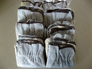 Lot Of 8 Pairs Of Large Leather Work Gloves