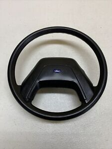 83 90 Ford Ranger Bronco Ii Oem Steering Wheel W Horn Oem Black Rubber