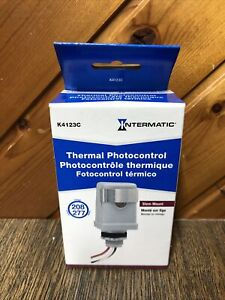 Intermatic K4123c 208 277 volt Stem Mount Position Thermal Photocontrol New