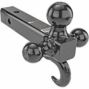 Tri Ball Mount Trailer Hitch W Tow Hook Class 2 3 And 4 Fits 2 Receiver Fo