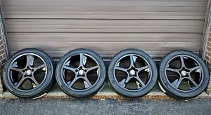 Factory Porsche Cayenne S Turbo 20 Oem Sport Techno Black Wheels New Tires