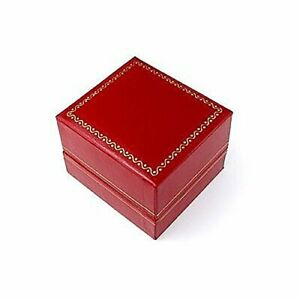 Classic Cartier Design Leatherette Red Ring Gift Box