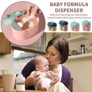 Baby Formula Dispenser Milk Powder Travel Portable With Spoon Food Container