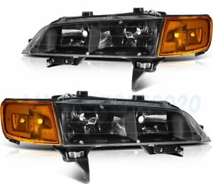 Led Headlights Assembly For 1994 1997 Honda Accord Front Driver passenger Lamps