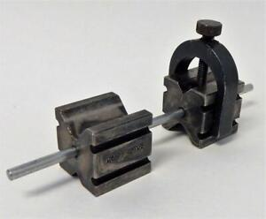 Machinists L S Starrett Co Matched Pair Of V Blocks Clamp Alignment Pin 271
