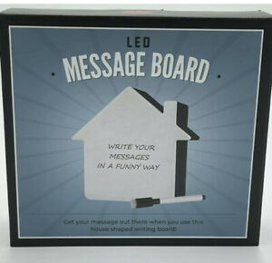 Led Message Board With Marker House Shape Write Your Own Message New