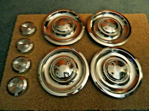 1967 Chevy Camaro Chevelle Corvette Nova Nos Rally Wheel Center Caps Ornaments