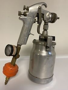 Devilbiss Spray Gun Used Old Style Jga 503 With Canister And Gauge