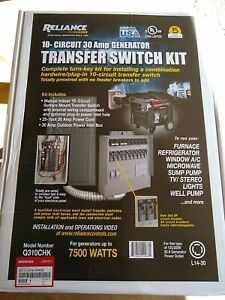 Honda Q310chk 10 Circuit 30 Amp Generator Transfer Switch Kit W 25 Cord