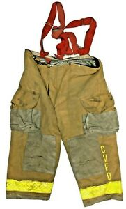 50x28 Janesville Lion Brown Firefighter Turnout Pants With Suspenders P1259