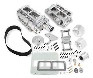 Weiand 7583p 6 71 Street Supercharger Kit For Big Block Chevy standard Deck 1