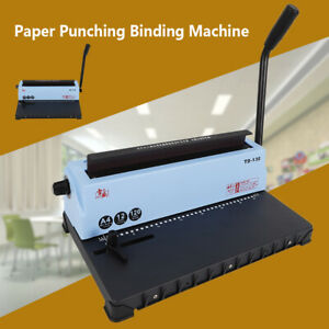 34 Square Hole Punching Spiral Coil Calendar Binding Machine For Schools Offices