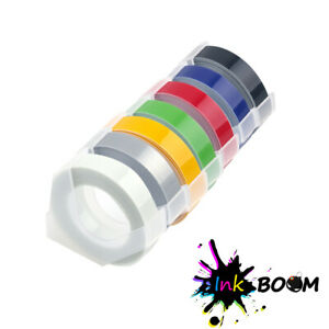 7 Rolls Colorful Label Tape For Dymo 3d 9mm Embossing Label Maker Tape 3 8 X 3m