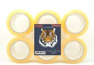 2 Heavy duty Clear Shipping Packing Tape 110 Yards 330 Ea Tiger Tough