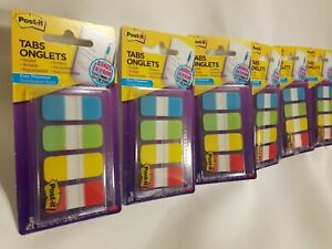 300 3m Post it Post It Index Tabs 6 Packs In 4 Colors 5 8 X 1 5 Writable New