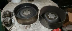Oliver 88 Tractor Brake Drums And Mounting Nuts Locks Set 2