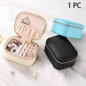 Jewelry Box Storage Display Waterproof Travel Carring Pu Leather Ring Necklace