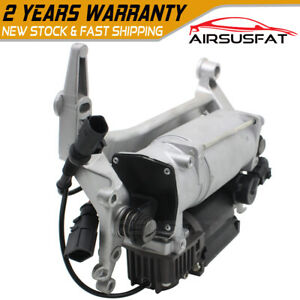 Air Suspension Compressor Pump W bracket For Vw Touareg Porsche Cayenne 2003 10
