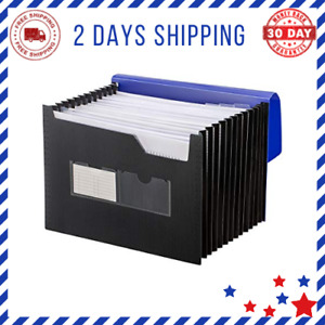 Sturdy Expanding File Folder With Sticky Labels 13 Pockets Stand up Accordion