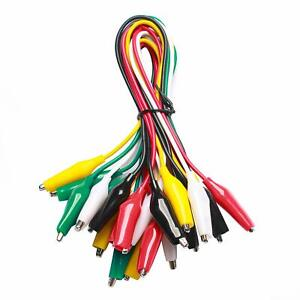 Wgge Wg 026 10 Pieces And 5 Color Test Lead Set With Alligator Clips Wire Solded