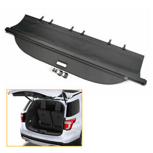 Rear Trunk Cargo Cover Security Shield Shade Black For Ford Explorer 2011 2018