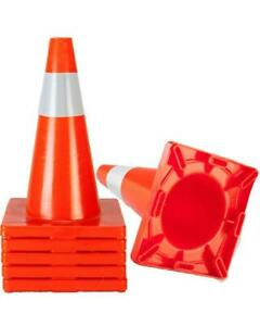 18 Traffic Safety Cones Reflective Collars Overlap Parking Construction 5x