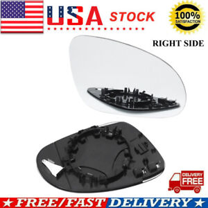 Right Side Rearview Mirror Glass Heated For Vw Jetta Golf Mk5 Gti Rabbit Passat