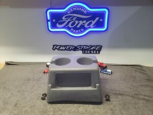 92 96 Ford F150 F250 F350 Tall Opal Grey Bench Seat Cup Holder 97 Obs Bronco