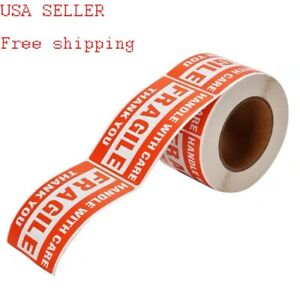One Roll 2 X 3 Fragile Stickers Labels Handle With Care 500 Pic Per Roll